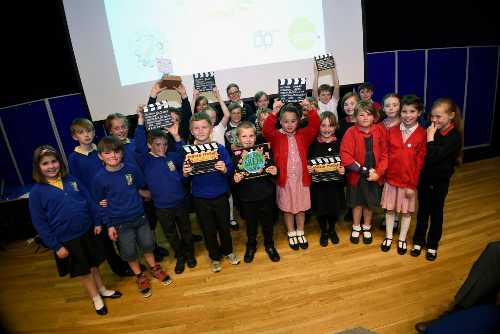 All the young finalists at the 2015 One World Centre Primary School Film competition awards