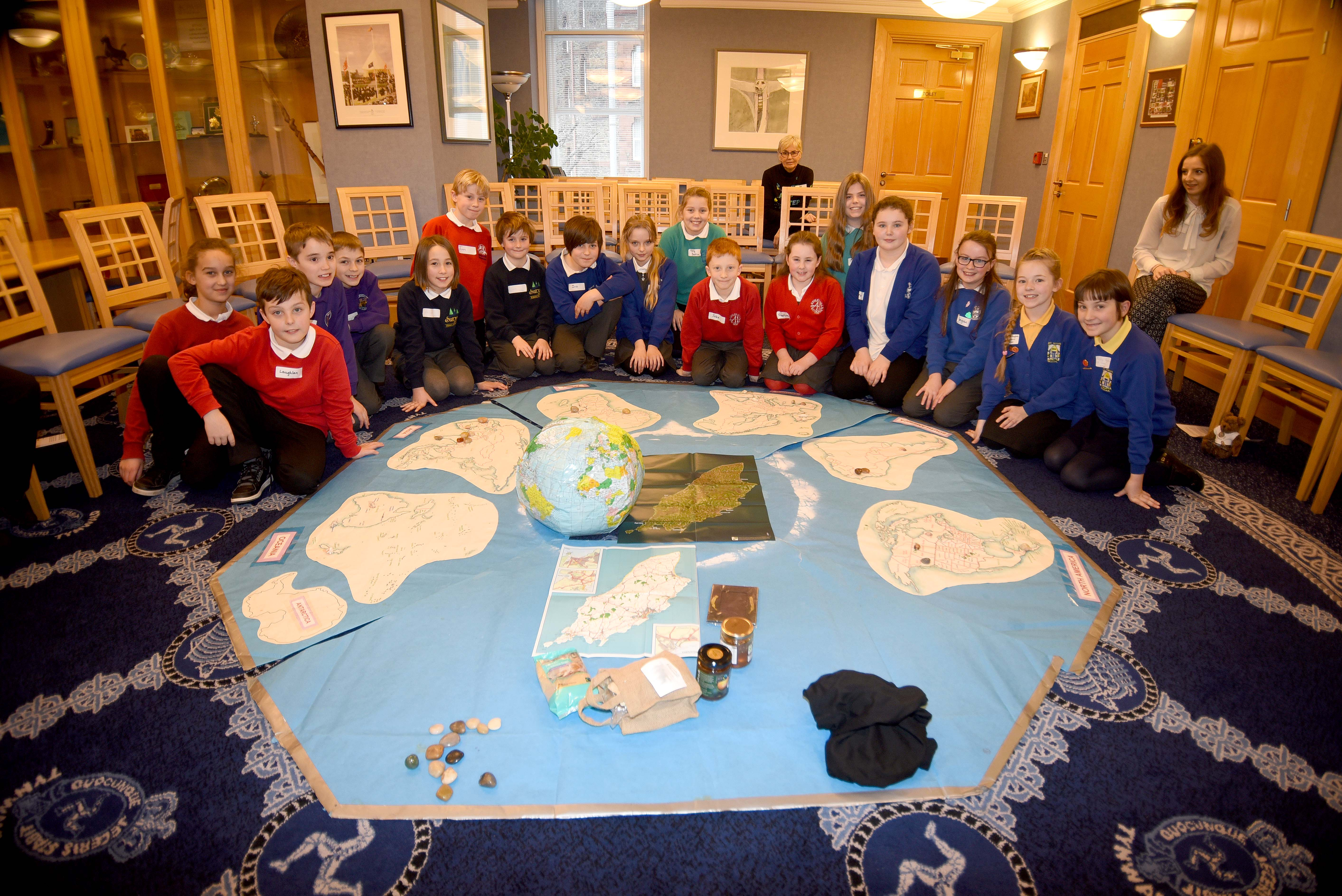 The One World Centre's primary school Fairtrade Conference at the Legislative Buildings in Douglas - Thursday, January 28 2016