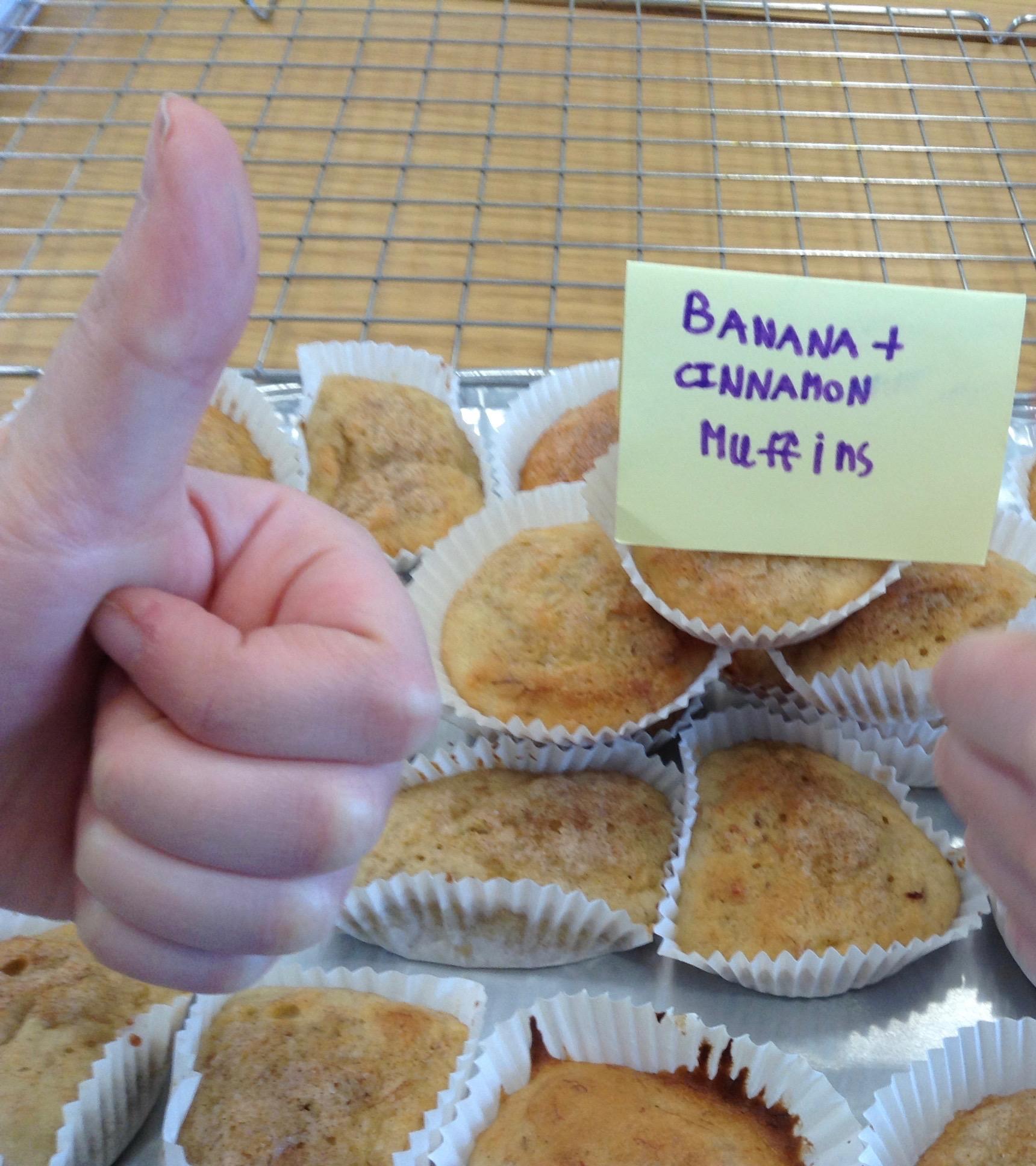 Ballasalla banana and cinnamon muffins