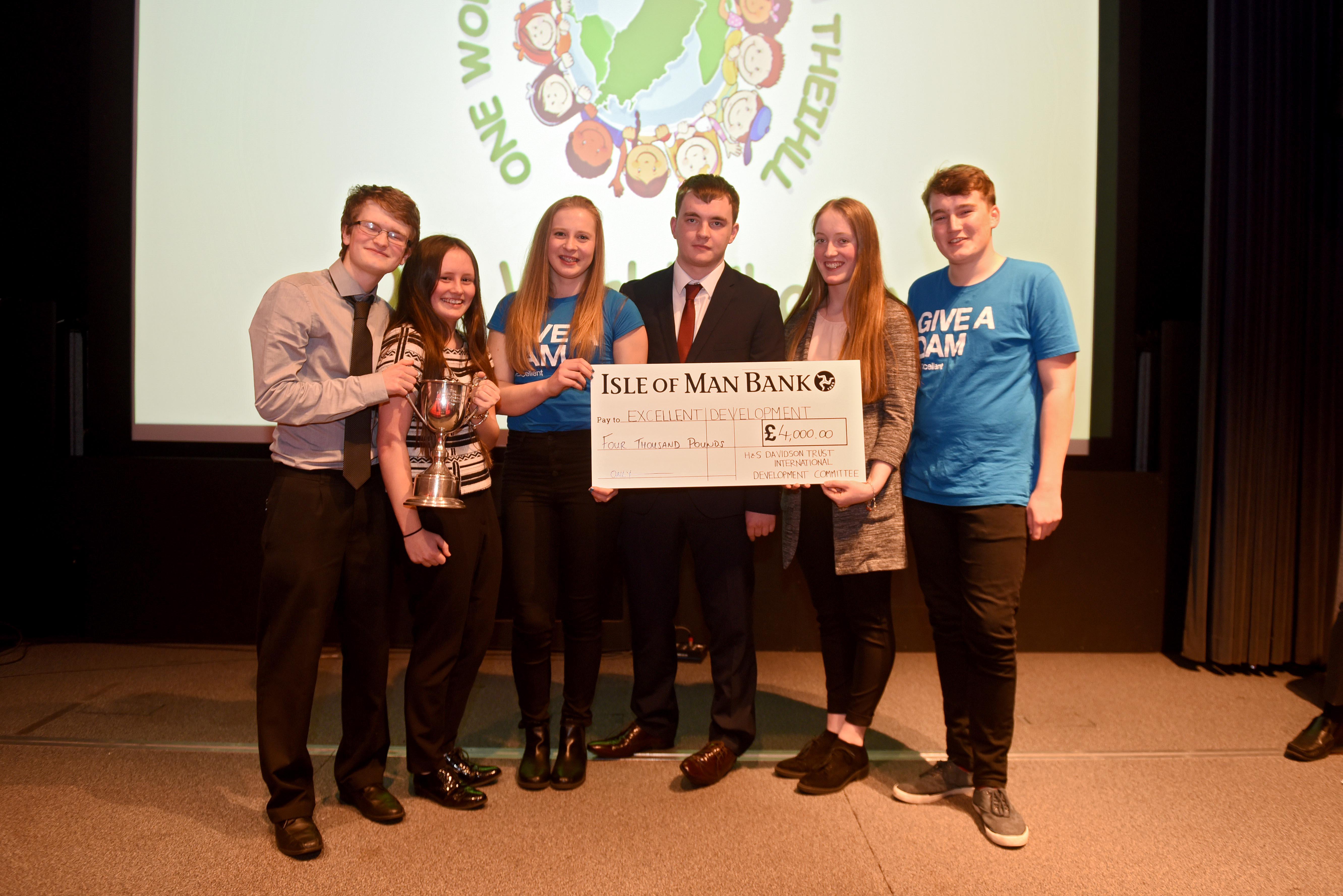 The winning team from Ramsey Grammar School