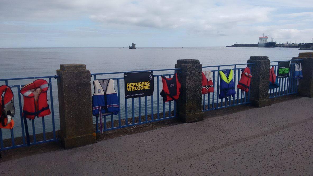 lifejackets on railings