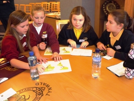 Students at one of the Fairtrade workshops
