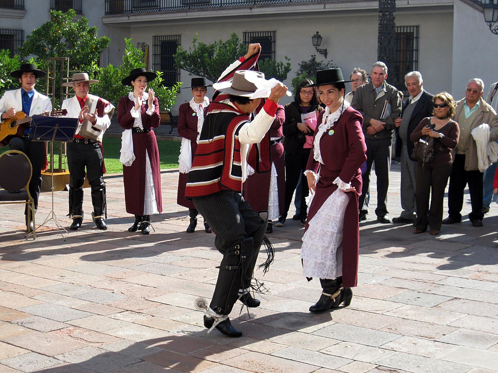 Chileans dancing the cueca