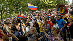 Colombians celebrating Independence Day in the UK