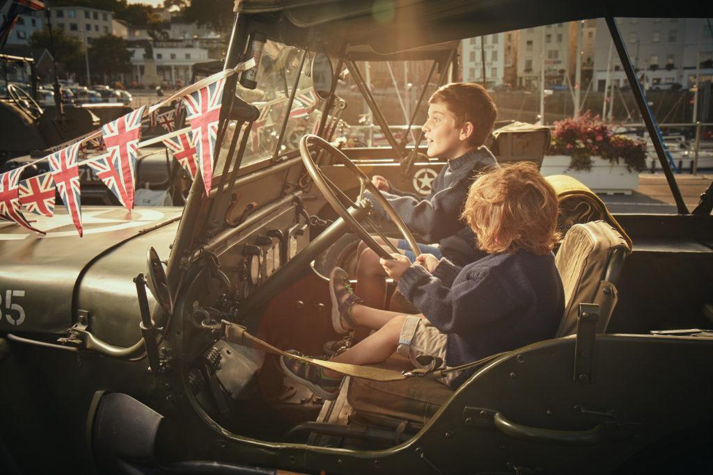Children celebrating Guernsey Liberation Day