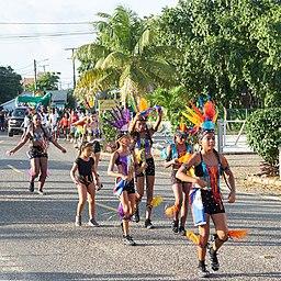 Children celebrating Indepedence Day in Belize