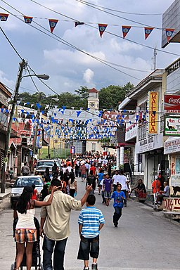 Street view of Belize Independence Day