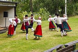 Folk dancing in Estonia on Midsummer Eve