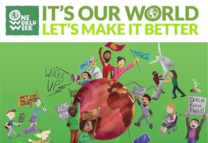 One World Week logo and image